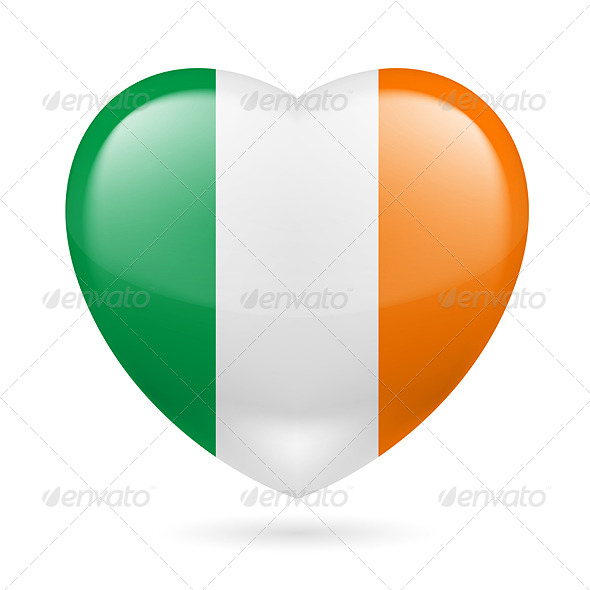 GraphicRiver Heart Icon of Ireland 7500008