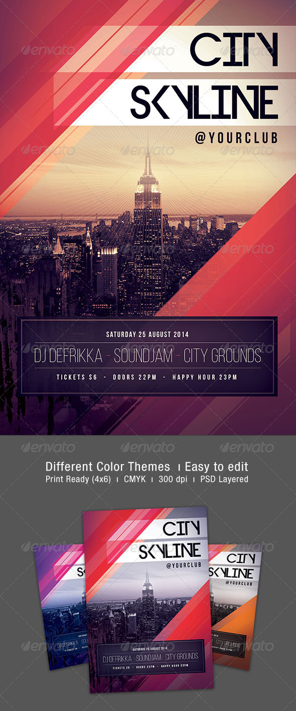 GraphicRiver City Skyline Flyer 7500010