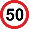 50 speed limitation road sign - PhotoDune Item for Sale