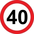 40 speed limitation road sign - PhotoDune Item for Sale