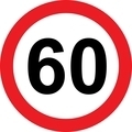 60 speed limitation road sign - PhotoDune Item for Sale