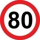 80 speed limitation road sign - PhotoDune Item for Sale