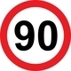 90 speed limitation road sign - PhotoDune Item for Sale