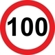100 speed limitation road sign - PhotoDune Item for Sale