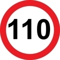 110 speed limitation road sign - PhotoDune Item for Sale