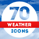 70 Weather Icons - GraphicRiver Item for Sale