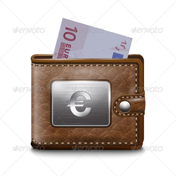 GraphicRiver Leather Wallet with Euro 7500466