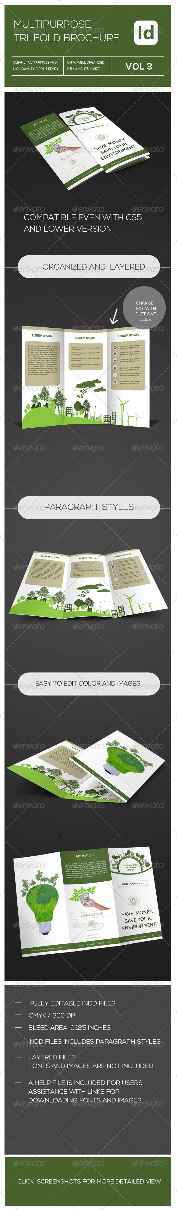 GraphicRiver Multipurpose Tri-fold Brochure 7500495