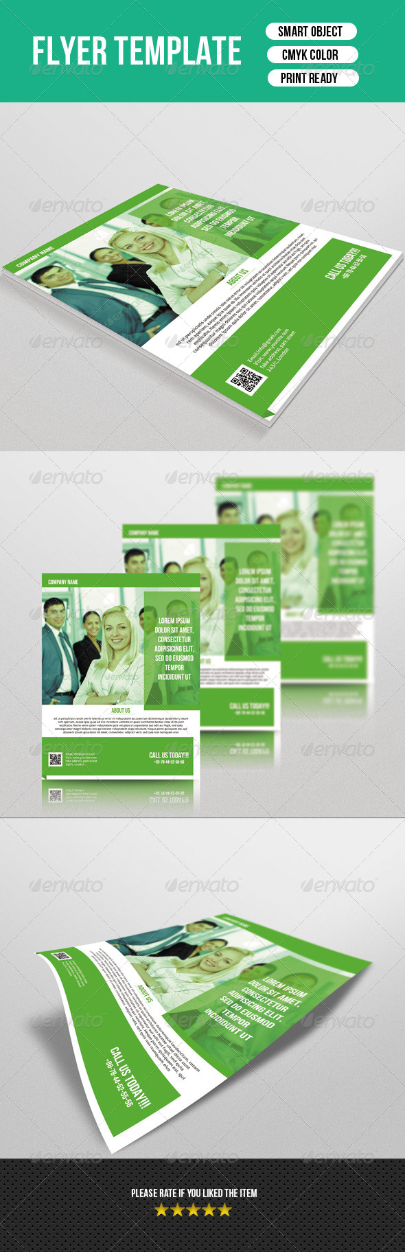 GraphicRiver Corporate Flyer Template 7500652