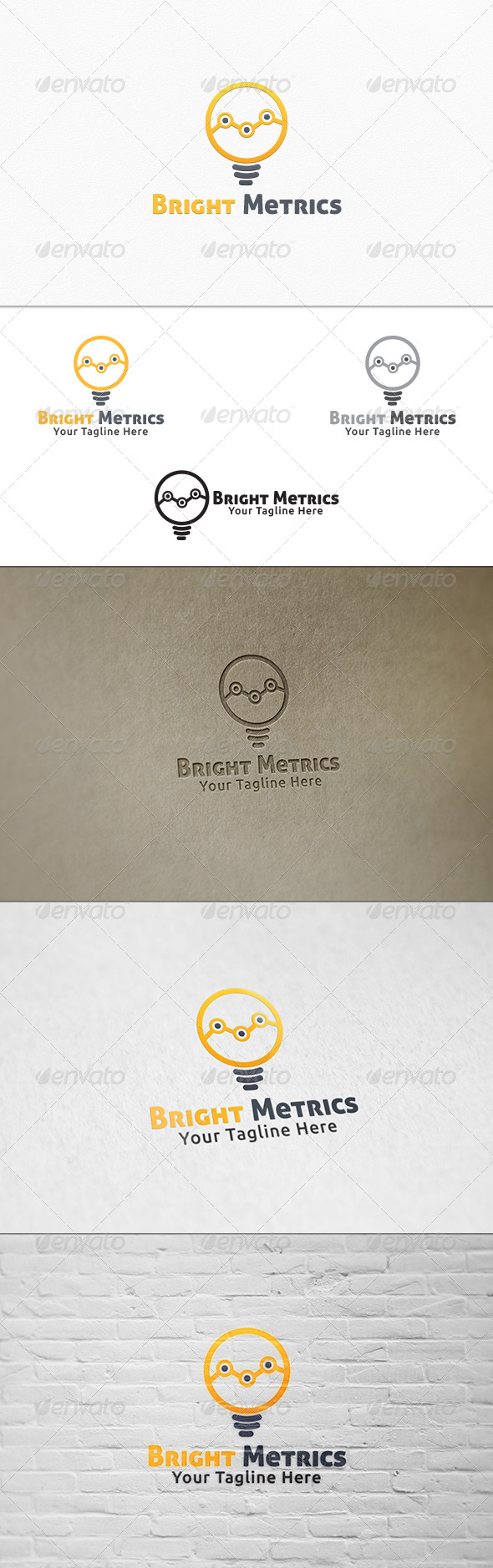 GraphicRiver Bright Metrics Logo Template 7501174