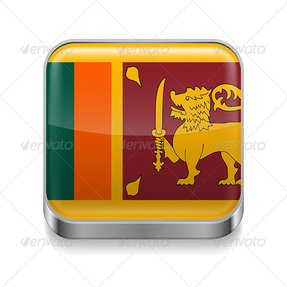GraphicRiver Metal Icon of Sri Lanka 7501451