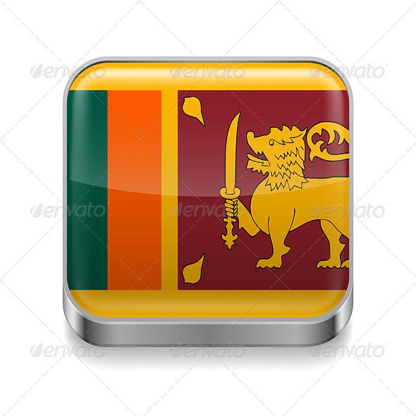 GraphicRiver Metal Icon of Sri Lanka 7501451