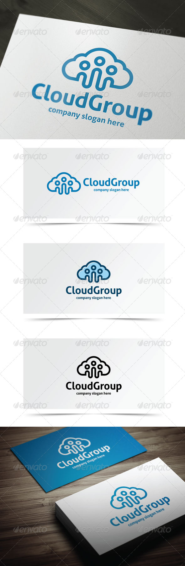 GraphicRiver Cloud Group 7501686