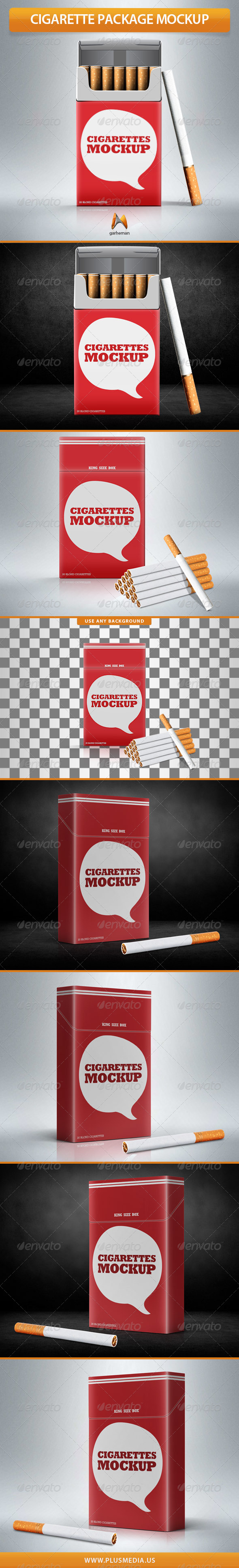GraphicRiver Cigarette Package Mock-Up 7486243