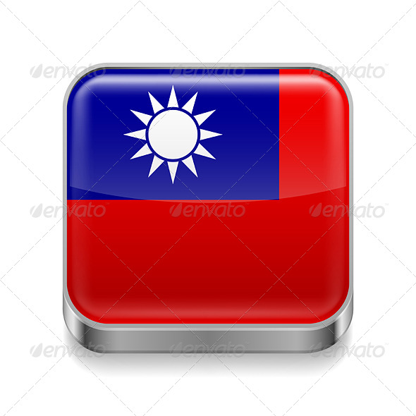 GraphicRiver Metal Icon of Taiwan 7502097