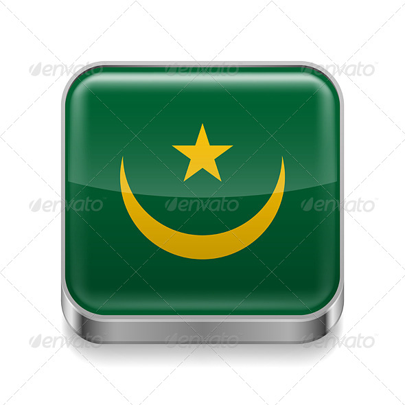 GraphicRiver Metal Icon of Mauritania 7502100
