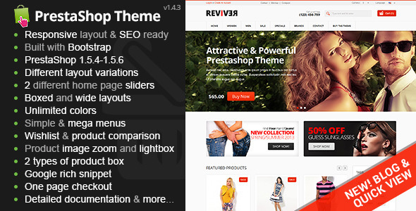 Reviver - Responsive Multipurpose PrestaShop Theme - Shopping PrestaShop