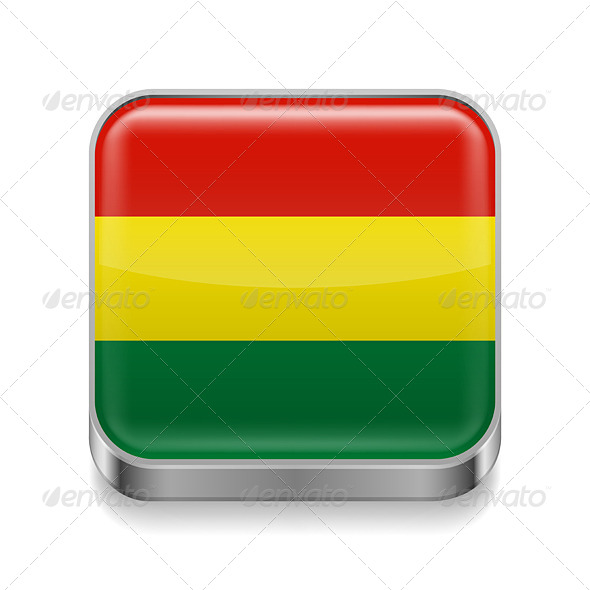 GraphicRiver Metal Icon of Bolivia 7502163