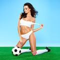 Sensual gorgeous brunette soccer player - PhotoDune Item for Sale