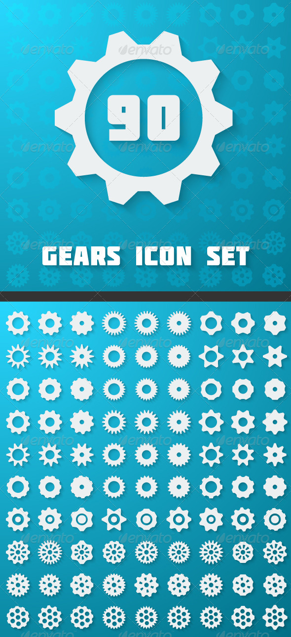 GraphicRiver Flat Gears Set 7502779