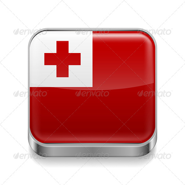 GraphicRiver Metal Icon of Tonga 7503028