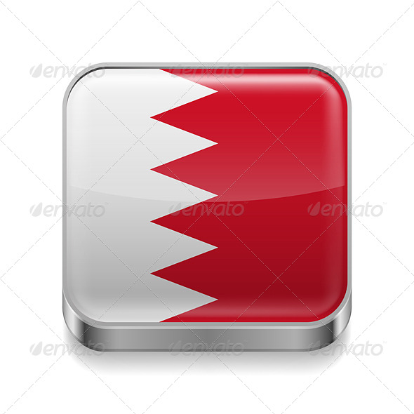 GraphicRiver Metal Icon of Bahrain 7503031