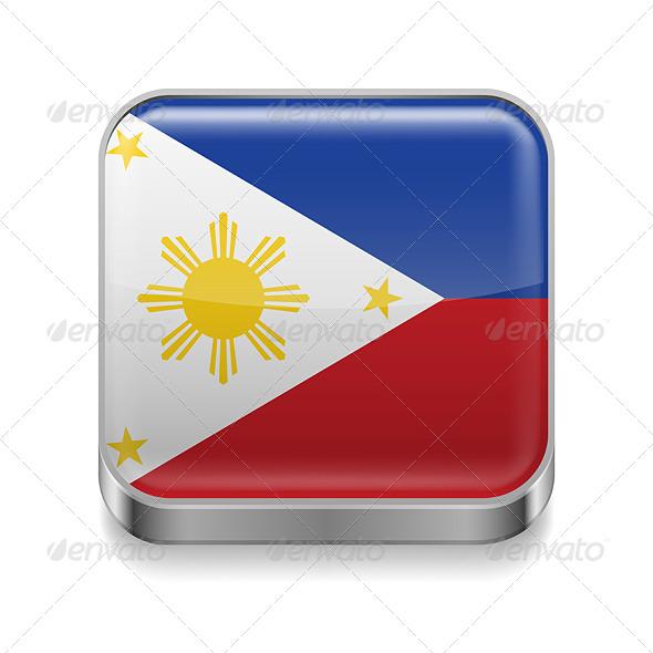 GraphicRiver Metal Icon of Philippines 7503032