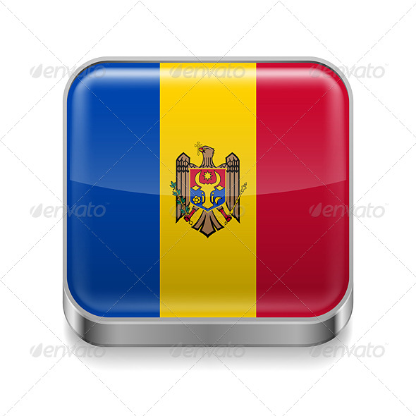 GraphicRiver Metal Icon of Moldova 7503034
