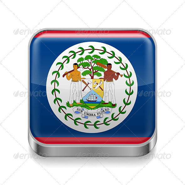 GraphicRiver Metal Icon of Belize 7503036