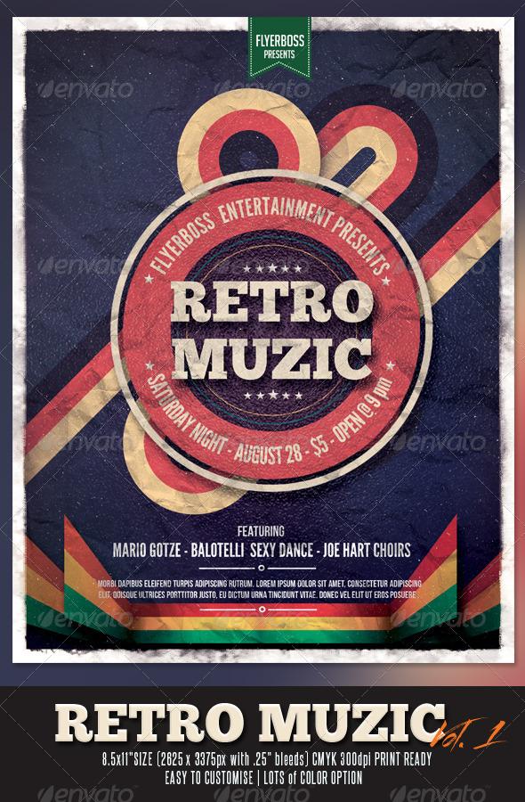 GraphicRiver Retro Muzic Flyer Poster 7487888