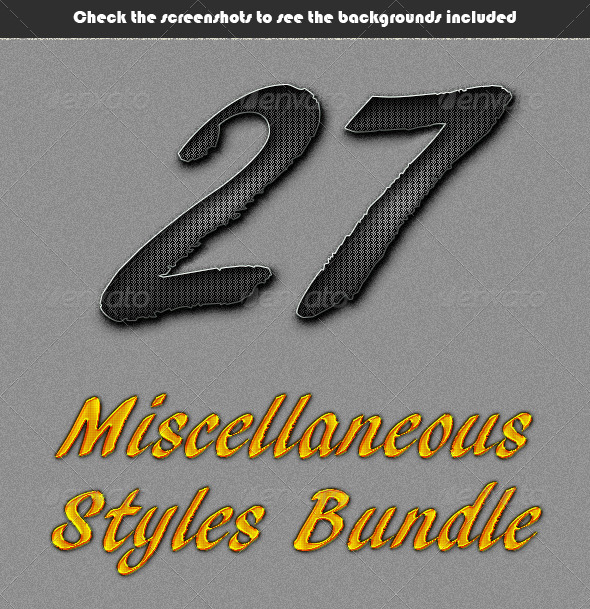 GraphicRiver Miscellaneous Styles Bundle 7503706