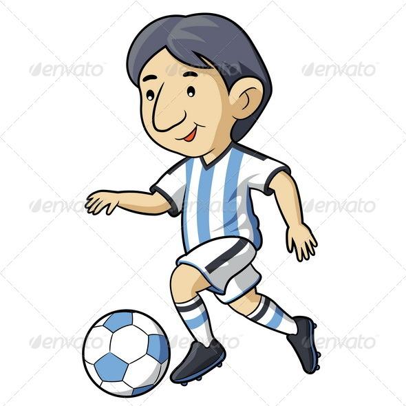 GraphicRiver Soccer Kid Cartoon 7503746