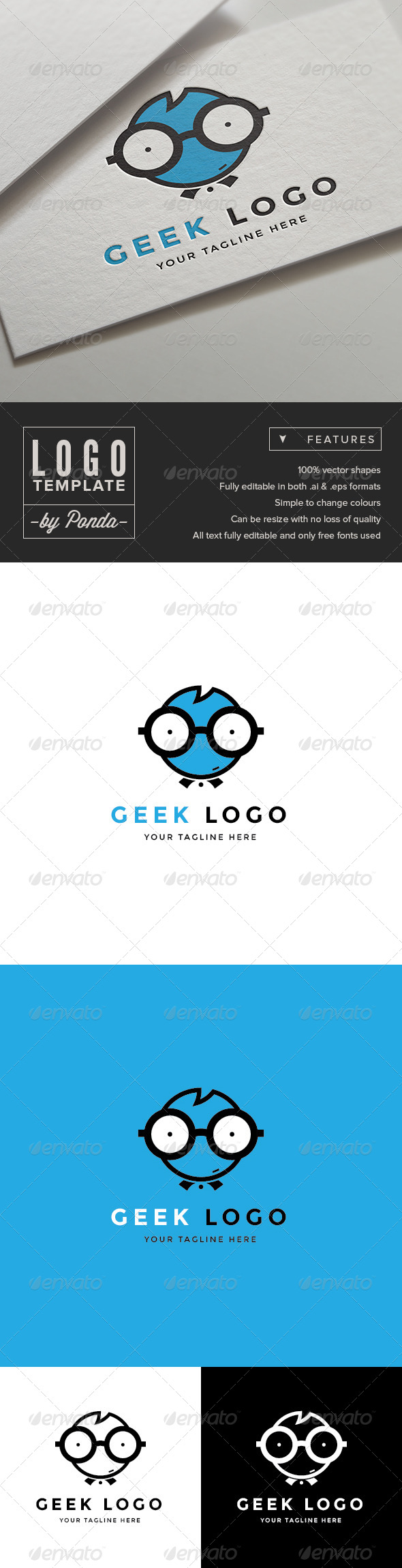 GraphicRiver Geek Logo Template 7504113