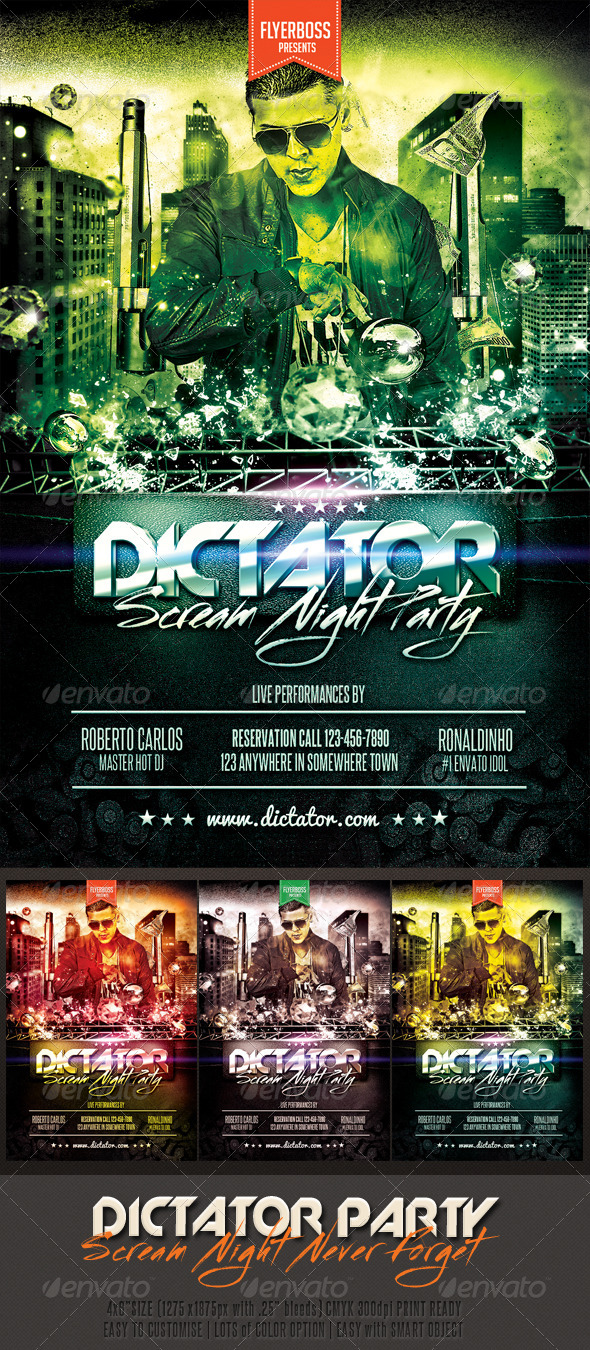 GraphicRiver Dictator Party Flyer 7495646