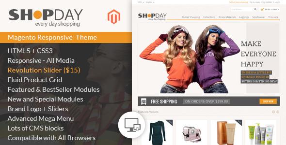 ThemeForest Shopday Magento Responsive Theme 7505373