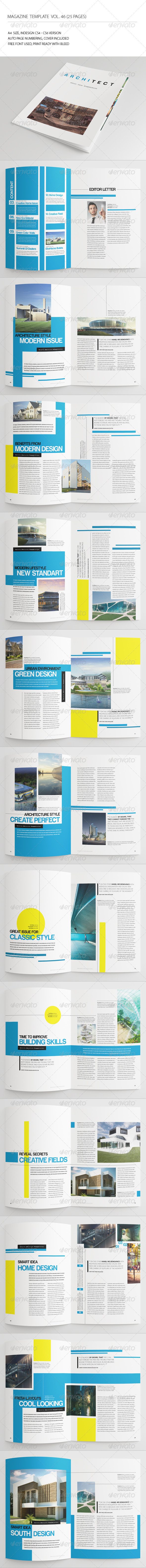 GraphicRiver 25 Pages Architecture Magazine Vol46 7505486