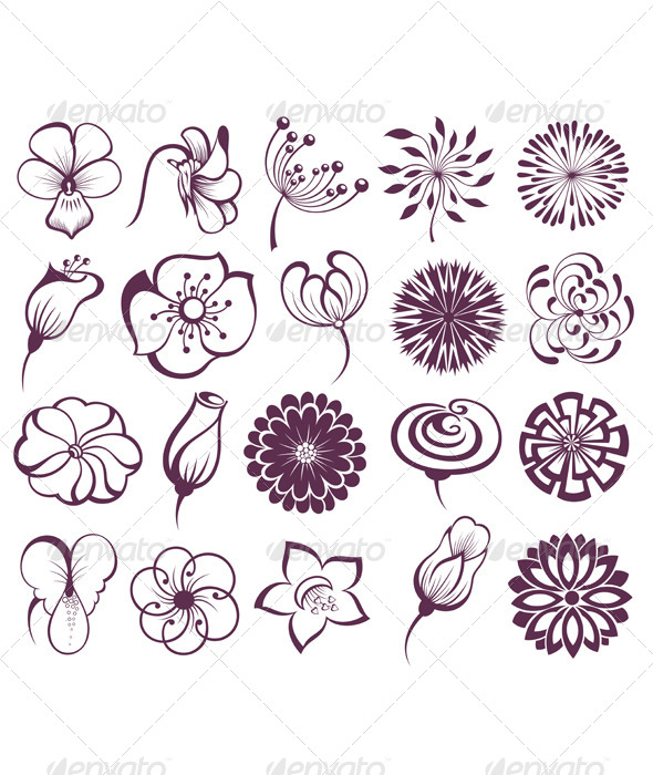 GraphicRiver Set of Flowers 7505838