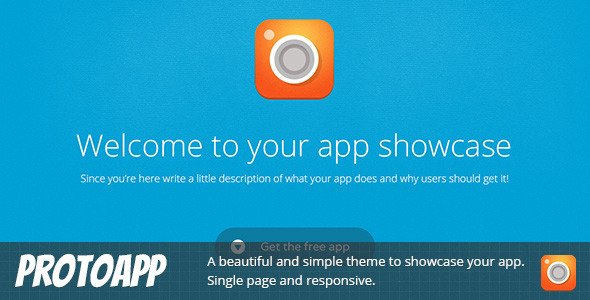 ThemeForest ProtoApp Responsive Single Page App Showcase 7462038