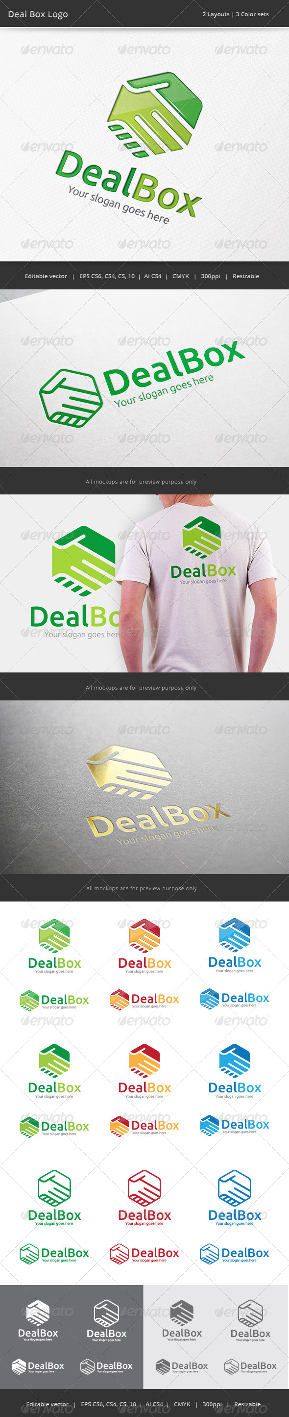 GraphicRiver Deal Box Hand Shake Logo 7506272
