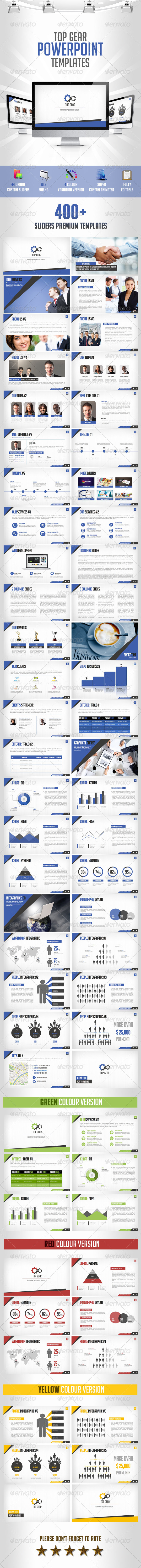 GraphicRiver Top Gear Powerpoint Presentation template 7499682