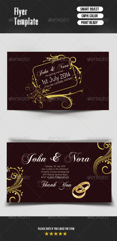 GraphicRiver Wedding Invitation Card 7506793