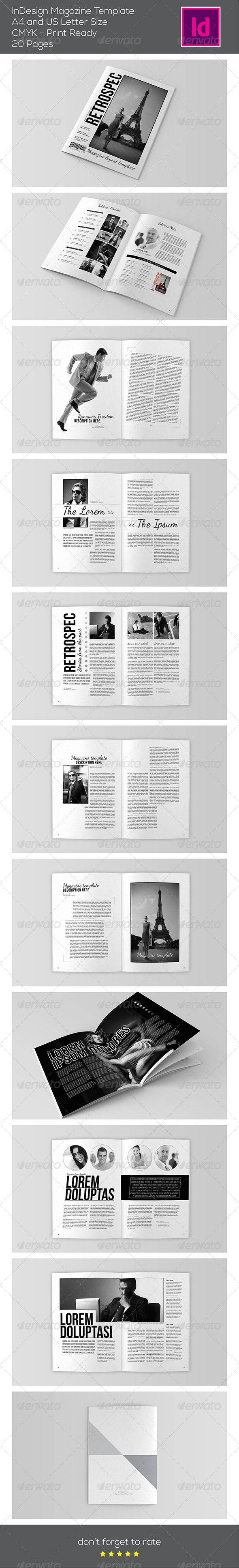 GraphicRiver Black & White Magazine Template 7507309