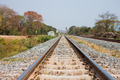 railway tracks on background of scenery - PhotoDune Item for Sale