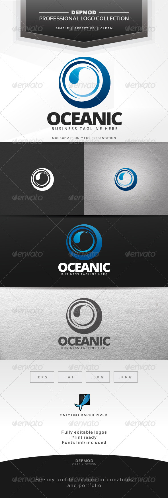 GraphicRiver Oceanic Logo 7507692