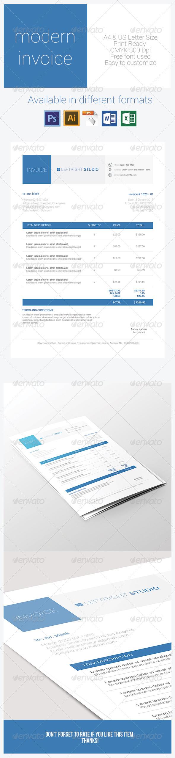 GraphicRiver Modern Invoice 7508477