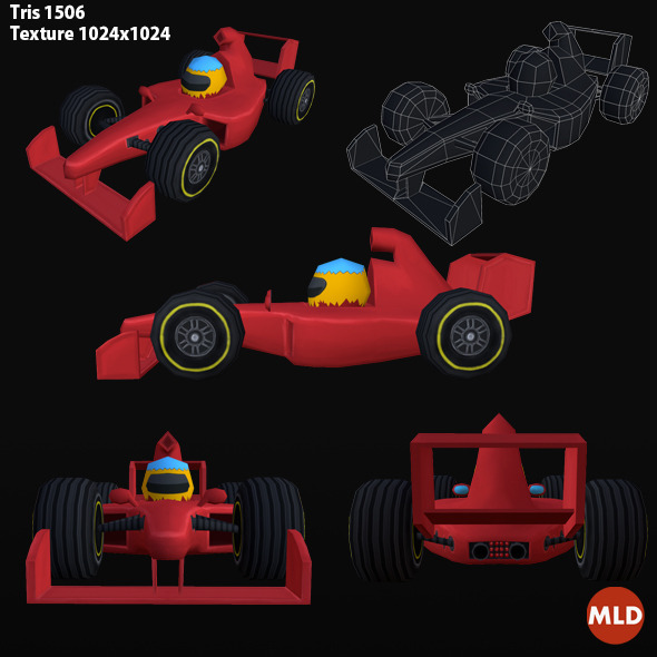 3DOcean Low Poly Formula 1 7508813