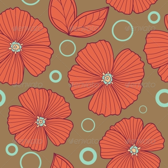 GraphicRiver Spring Old Style Floral Seamless Pattern 7509013