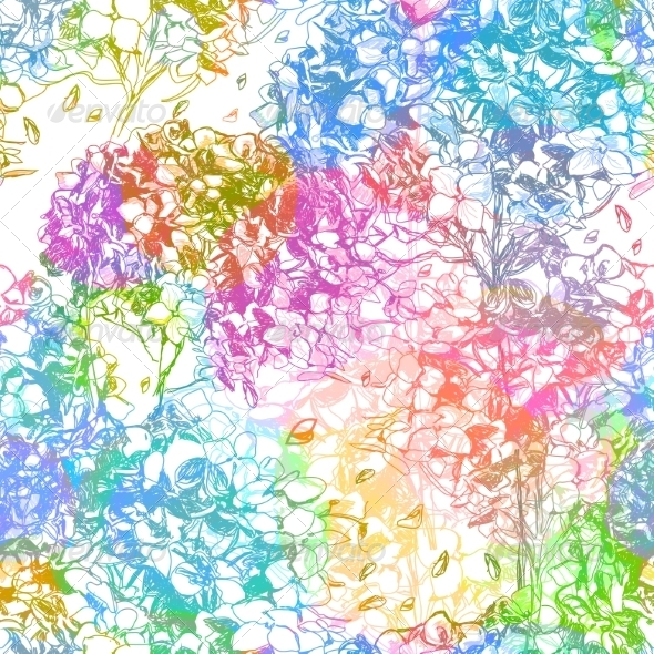 GraphicRiver Abstract Flowers Seamless Pattern 7510463