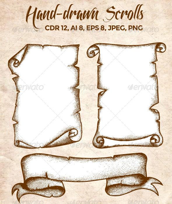 GraphicRiver Hand-Drawn Scrolls 7510494