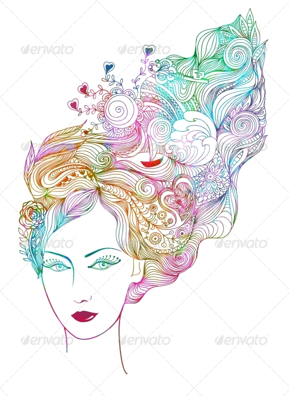 GraphicRiver Abstract Woman Vector Illustration EPS 10 7510773